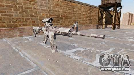 Automatique carabine MA Arctique Camo pour GTA 4