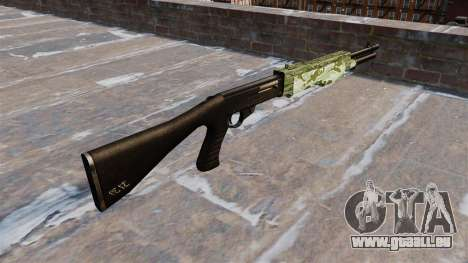 Ружье Franchi SPAS-12 Green Camo für GTA 4 Sekunden Bildschirm