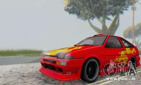 Toyota Corolla AE86 DS pour GTA San Andreas vue arrière