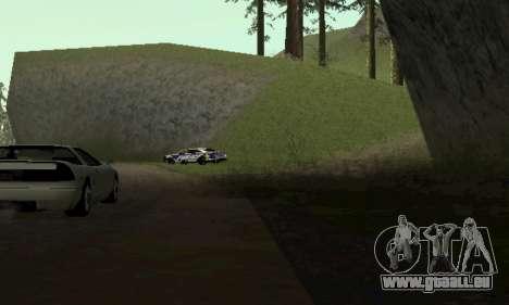 Ford Taurus HSO Police für GTA San Andreas zurück linke Ansicht