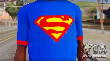 Superman T-Shirt v1 für GTA San Andreas dritten Screenshot