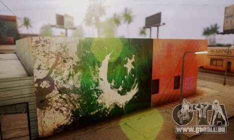 Pakistani Flag Graffiti Wall pour GTA San Andreas