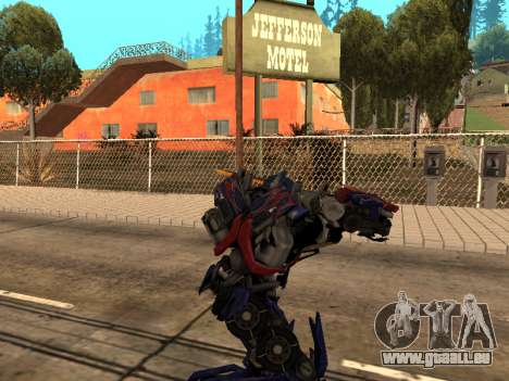Optimus Sword pour GTA San Andreas septième écran