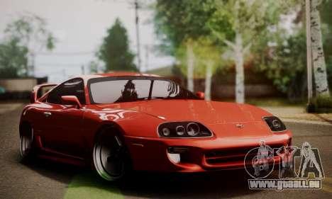 Toyota Supra Stock pour GTA San Andreas vue arrière