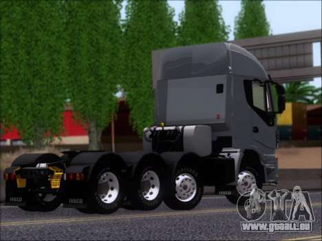 Iveco Stralis HiWay 560 E6 8x4 für GTA San Andreas Innenansicht
