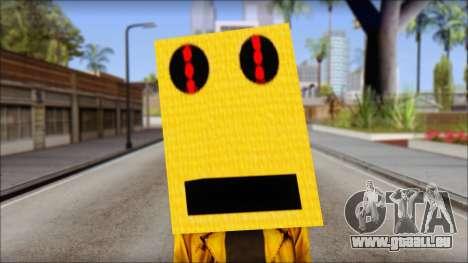 Robot Head LMFAO pour GTA San Andreas troisième écran