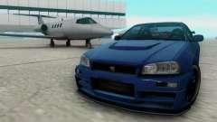 Nissan Skyline R34 Fast and Furious 4 für GTA San Andreas