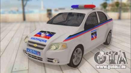 Chevrolet Aveo Polizei DND für GTA San Andreas