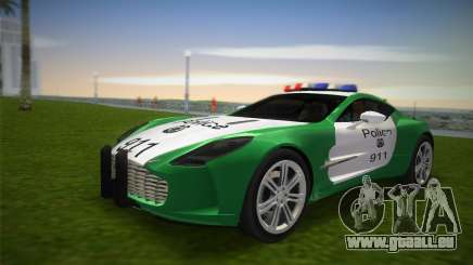Aston Martin One-77 police für GTA Vice City