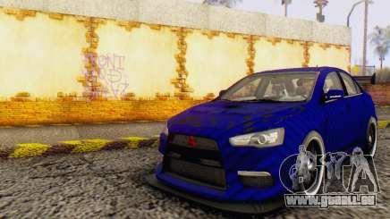 Mitsubishi Lancer EVO X Carbon Coloured pour GTA San Andreas