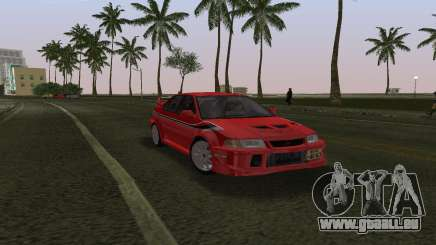 Mitsubishi Lancer Evolution 6 Tommy Makinen Edit für GTA Vice City
