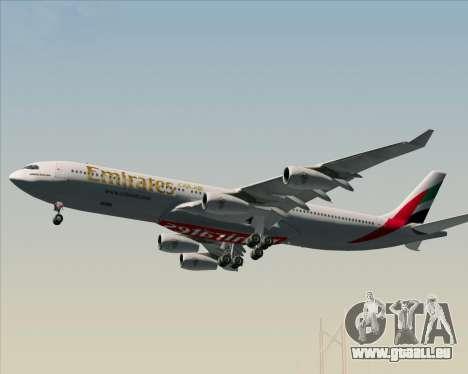 Airbus A340-313 Emirates für GTA San Andreas Räder