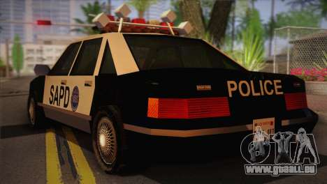 GTA 3 Police Car pour GTA San Andreas laissé vue