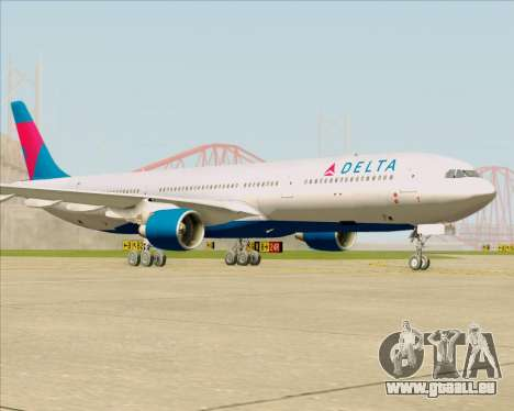 Airbus A330-300 Delta Airlines für GTA San Andreas linke Ansicht