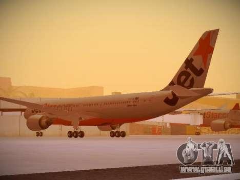 Airbus A330-200 Jetstar Airways pour GTA San Andreas sur la vue arrière gauche