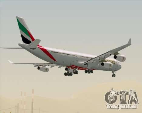 Airbus A340-313 Emirates für GTA San Andreas Unteransicht