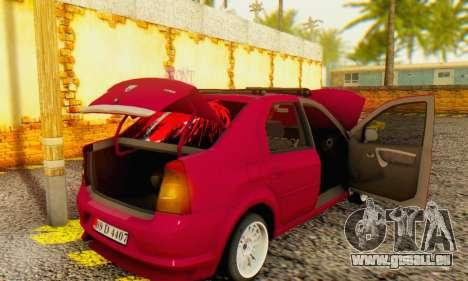 Dacia Logan 1.6 MPI Tuning pour GTA San Andreas vue arrière