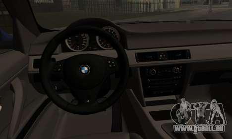 BMW M3 E90 Stance Works für GTA San Andreas zurück linke Ansicht
