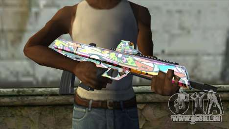 Graffiti Assault rifle für GTA San Andreas dritten Screenshot