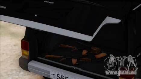 Jeep Cherokee pour GTA San Andreas vue intérieure