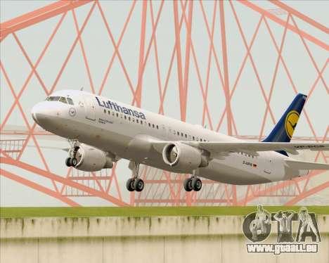 Airbus A320-211 Lufthansa für GTA San Andreas Seitenansicht