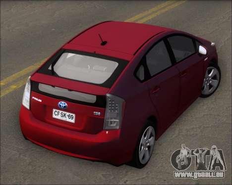 Toyota Prius pour GTA San Andreas vue intérieure