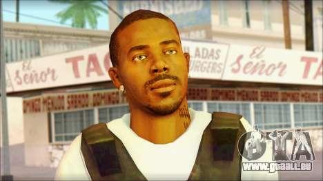 New Grove Street Family Skin v5 pour GTA San Andreas troisième écran