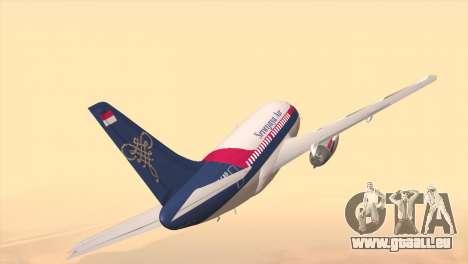 Indonesian Plane Sriwijaya Air für GTA San Andreas zurück linke Ansicht