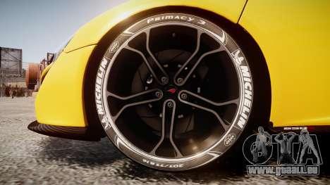 McLaren 650S Spider 2014 [EPM] Michelin v4 pour GTA 4 Vue arrière