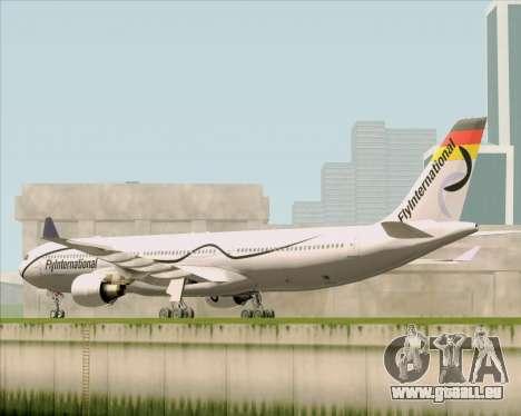 Airbus A330-300 Fly International für GTA San Andreas zurück linke Ansicht