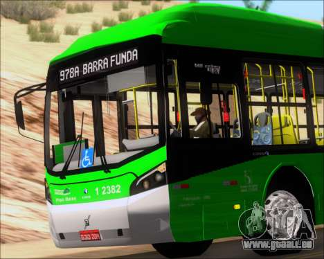 Caio Induscar Millennium BRT Viacao Gato Preto für GTA San Andreas obere Ansicht