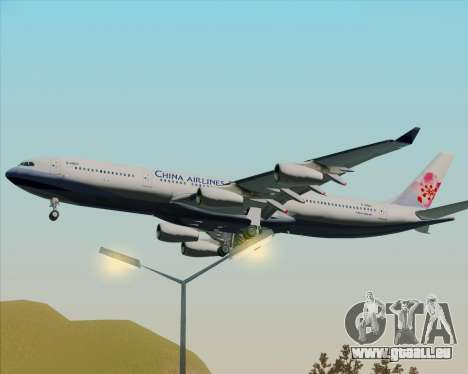 Airbus A340-313 China Airlines pour GTA San Andreas vue arrière