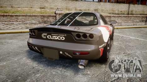 Mazda RX-7 Cusco für GTA 4 hinten links Ansicht