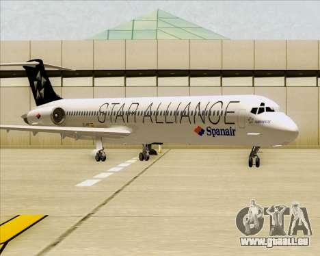 McDonnell Douglas MD-82 Spanair für GTA San Andreas linke Ansicht
