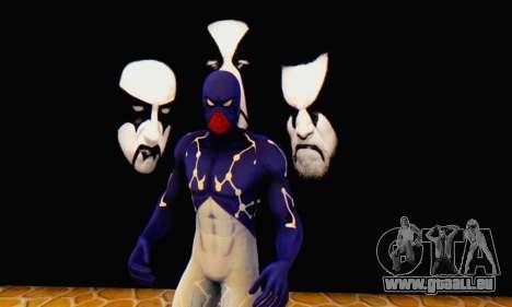Skin The Amazing Spider Man 2 - Suit Cosmic für GTA San Andreas fünften Screenshot