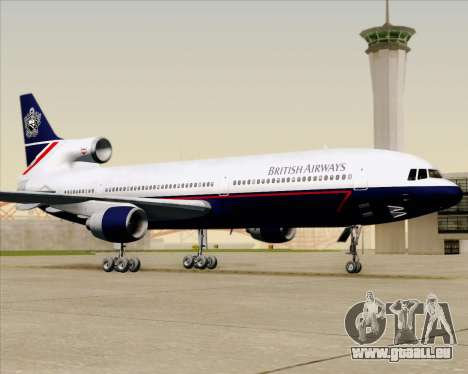 Lockheed L-1011 TriStar British Airways pour GTA San Andreas vue de dessus