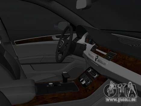 Audi A8 2010 W12 Rim6 pour GTA Vice City vue arrière