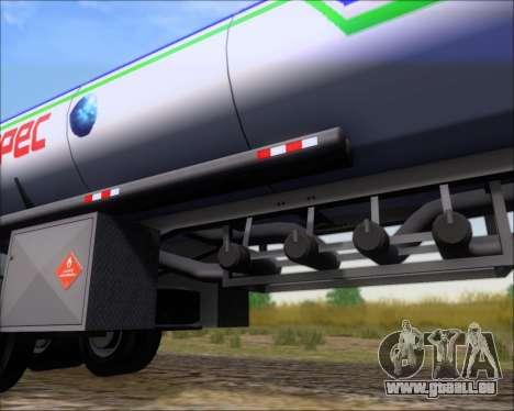 Trailer tank Carro Copec für GTA San Andreas obere Ansicht