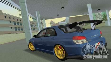 Subaru Impreza WRX STI 2006 Type 2 für GTA Vice City zurück linke Ansicht