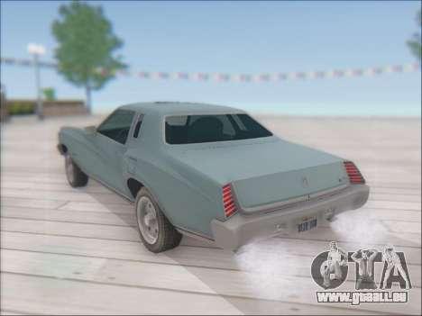 Chevrolet Monte Carlo 1973 pour GTA San Andreas laissé vue