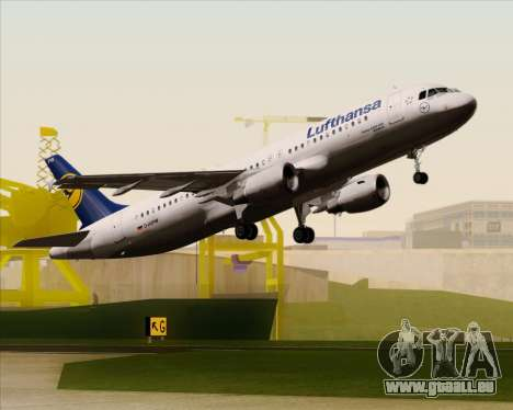 Airbus A320-211 Lufthansa für GTA San Andreas Unteransicht