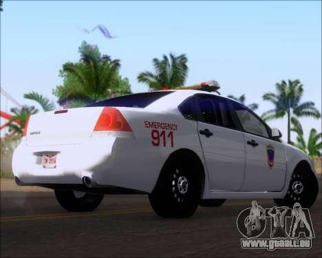 Chevrolet Impala 2006 Tallmage Batalion Chief 2 für GTA San Andreas rechten Ansicht