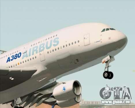 Airbus A380-861 für GTA San Andreas Rückansicht