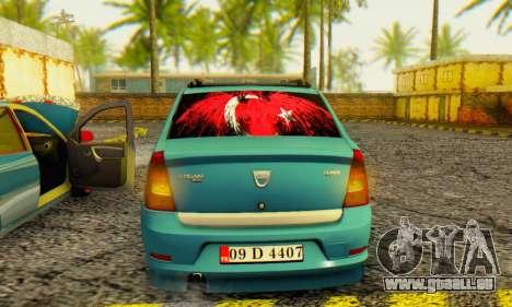 Dacia Logan 1.6 MPI Tuning pour GTA San Andreas vue de droite