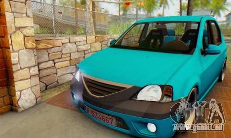Dacia Logan Elegant pour GTA San Andreas laissé vue