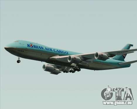 Boeing 747-8 Cargo Korean Air Cargo pour GTA San Andreas sur la vue arrière gauche