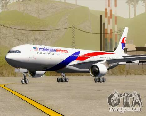 Airbus A330-323 Malaysia Airlines pour GTA San Andreas laissé vue