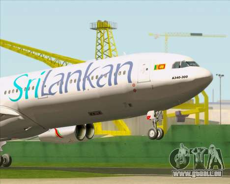 Airbus A340-313 SriLankan Airlines für GTA San Andreas Innen