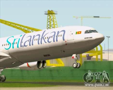 Airbus A340-313 SriLankan Airlines pour GTA San Andreas salon