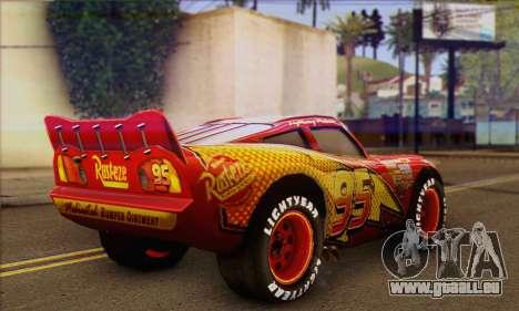 Lightning McQueen pour GTA San Andreas laissé vue
